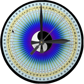 I Ching hexagram Clock